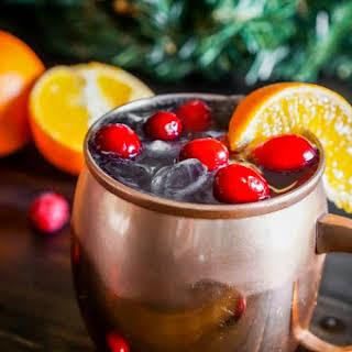 Cranberry Tangerine Lemonade Moscow Mule.
