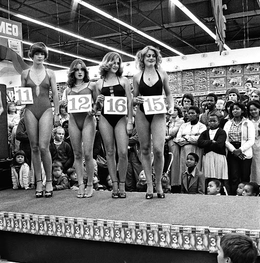 Stand the test of time: : David Goldblatt's photograph of the semifinal of the Miss Lovely Legs competition in Boksburg in 1980 will be on auction on February 17 and is expected to fetch R240,000. Picture: SUPPLIED