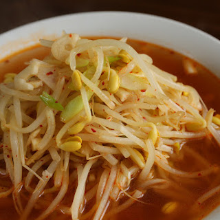 Kimchi Bean Sprout Soup.