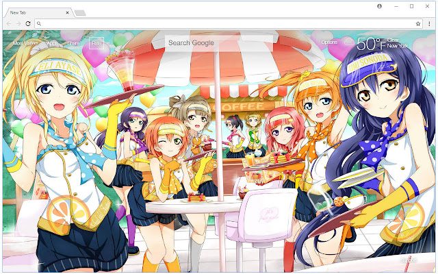 Love Live Wallpapers HD New Tab Themes