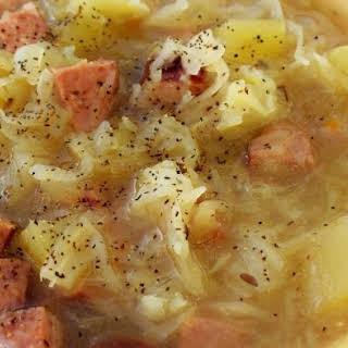 Polish Sausage and Cabbage Soup Crock Pot.