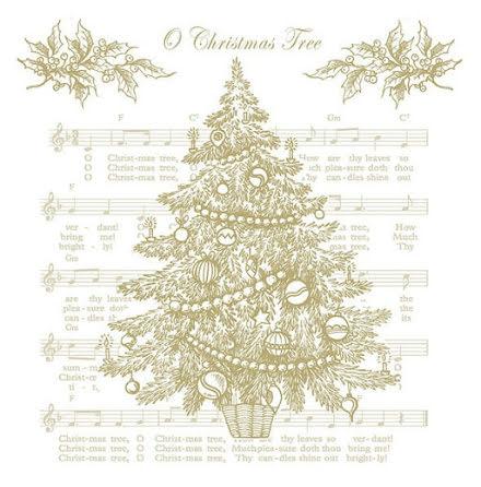 Servetter - Christmas tree. guld