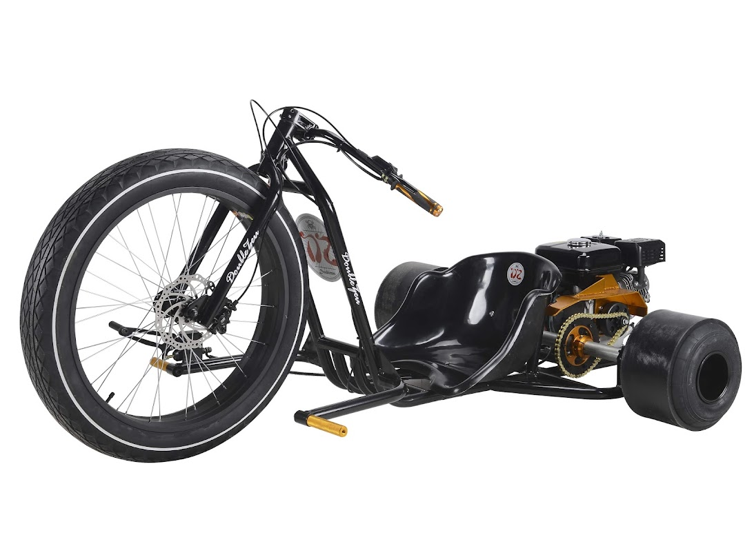 6.5Hp 4 Stroke Petrol Powered Motorised Drift Trike Slider Drifting Tricycle bike for sale