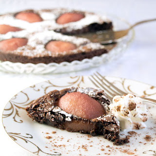 Drunken Chocolate Peart Tart
