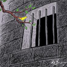 Photo: 阿平漫画:铁窗内的人