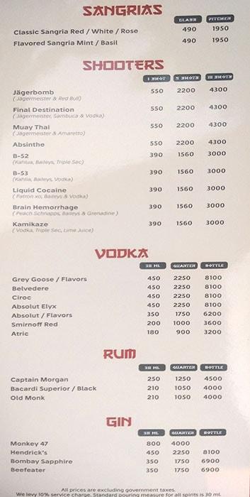 Soi 7 Pub & Brewery menu 1