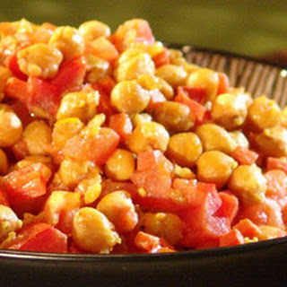 Curried Chickpeas.