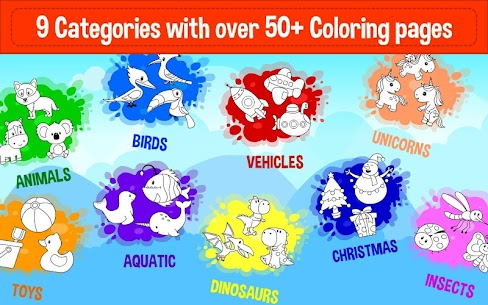 Learning & Coloring Game for Kids & Preschoolers 2