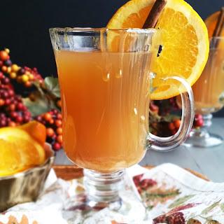 Orange Apple Cider Hot Toddy.