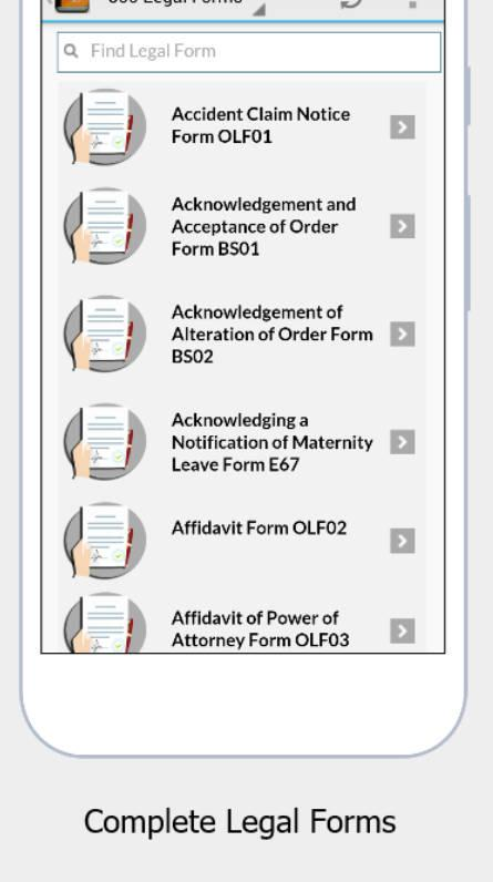 300 Legal Forms - Android Apps On Google Play