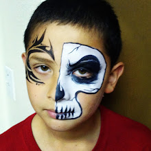 Photo: Skull/Halloween face painting by Raelynn, Azusa, Ca. Call to book her today! 888-750-7024