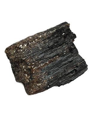 Svart turmalin, XXL sten med mica