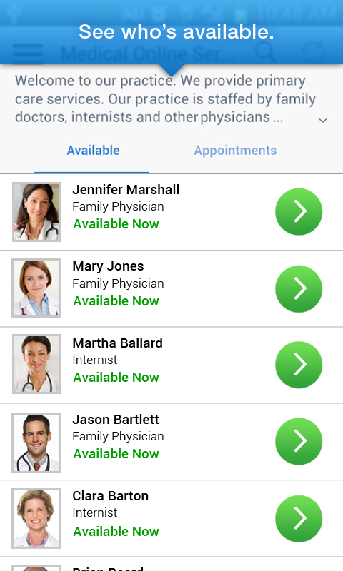 USHW CareConnectNOW- screenshot