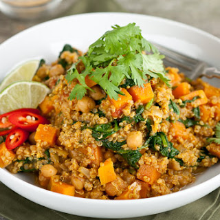 Chickpea, Quinoa and Sweet Potato Curry