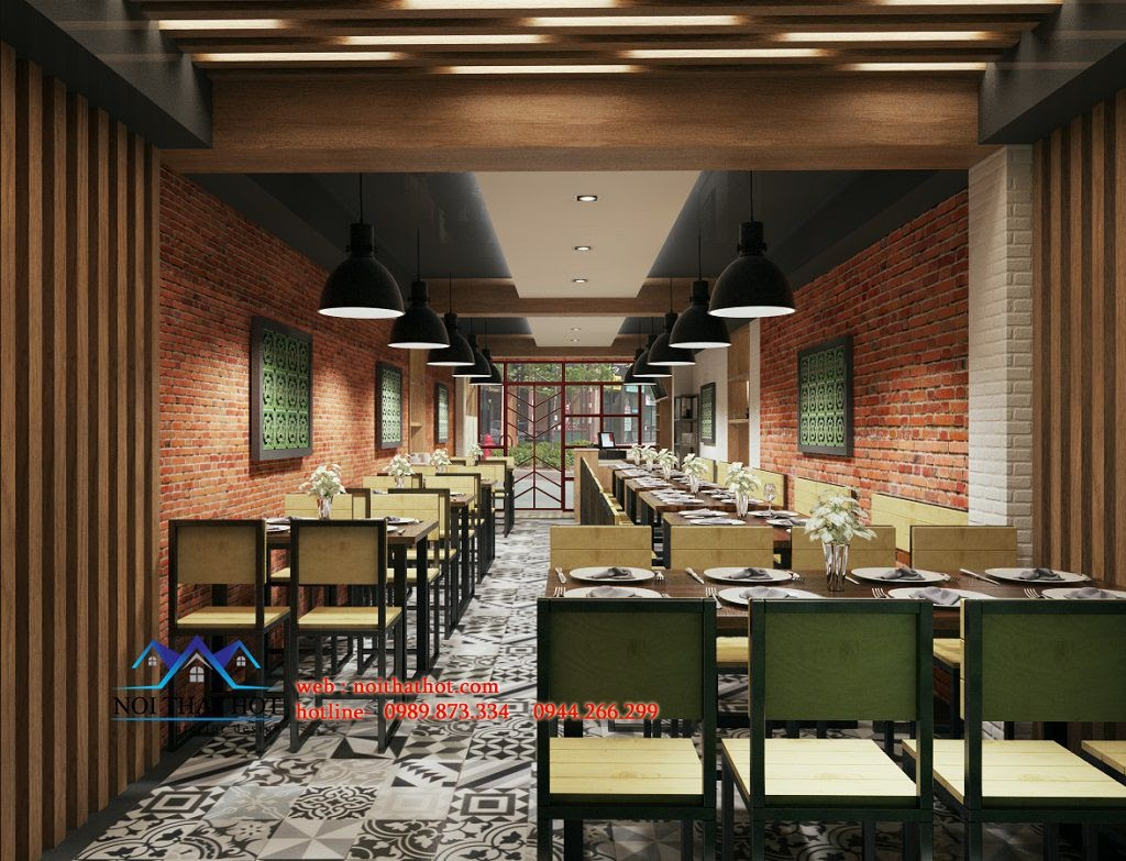 thiết kế cửa hàng ăn đẳng cấp tại phố Chùa Láng