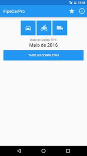 FipeCarPro: Tabela FIPE - náhled
