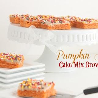 Pumpkin Spice-Cake Mix Brownies Recipe