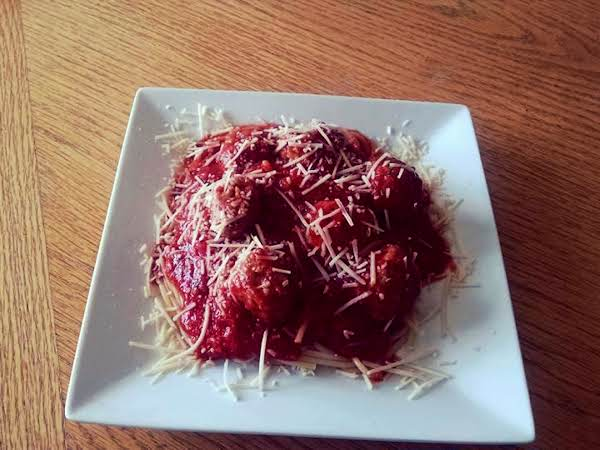 My Cheesy Meatballs And Homemade Spaghetti Sauce Recipe