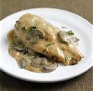 Chicken Breasts w/ Gruyere & Sauteed Mushrooms