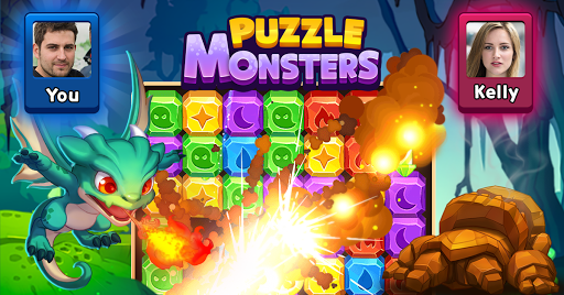 Puzzle Monsters - Puzzle Blast 1:1 Battle is on 1.230 6