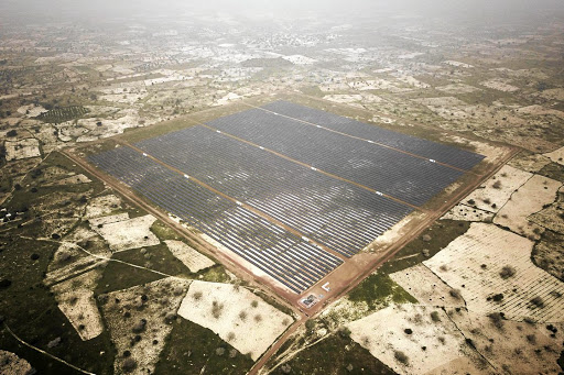 Sunny prospects: Senegal's solar plant in Thies is an example of Africa embracing new technologies in a way that sets it apart. The continent is less constrained by legacy than other regions, creating a clean sheet on which innovators can develop business models. Picture: BLOOMBERG