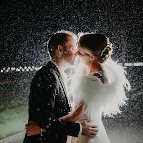 Rain rain rain @ Night.... by Kaspars Sarovarcenko - Wedding Bride & Groom ( rain wedding, wedding photographer limerick )
