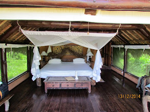 Photo: Our tent - a real WOW factor - and with a view of the river and hippos