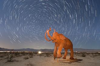 Photo: Borrego Springs Mammoth Sculpture at Night