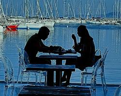 Colazione in riva al mare, Trieste.