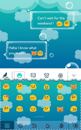玩工具App|Cloud Bubble Hitap Keyboard免費|APP試玩