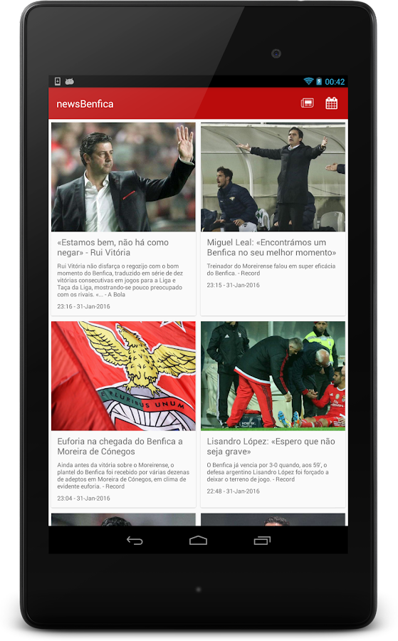 newsBenfica- screenshot