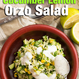 Cucumber Lemon Orzo Salad
