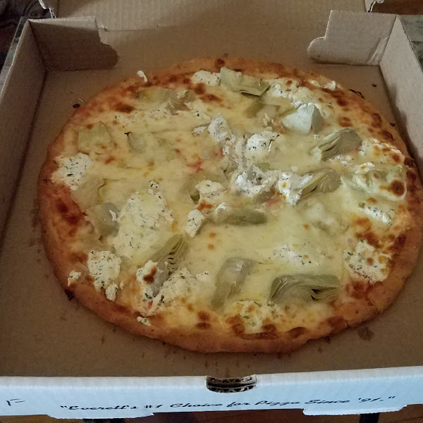 GF with extra cheese, ricotta, artichoke