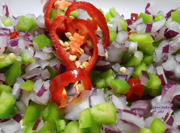 Another option is to use one anaheim pepper diced, two fresno peppers cut into...