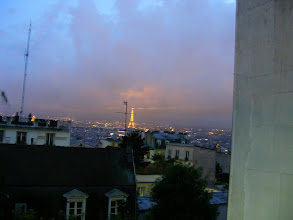 Photo: From an out-of-the-way corner of the square, the Eiffel Tower is visible.