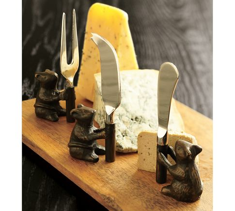 Photo: Cheese Board & Mouse Knives Set http://bit.ly/QJUeub