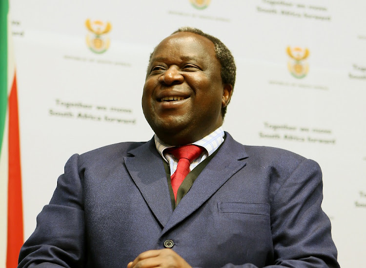 Finance minister Tito Mboweni ahead of the 2019 budget speech. Picture: RUVAN BOSHOFF