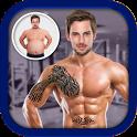 Men Body Styles SixPack tattoo - Photo Editor app icon