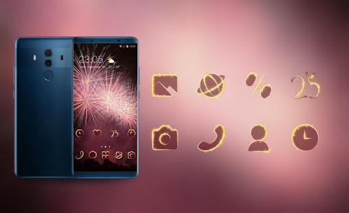 Download Theme for huawei nova 3i pink fireworks wallpaper