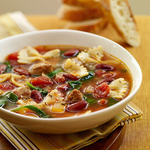 Italian Style Soup with Turkey Sausage
