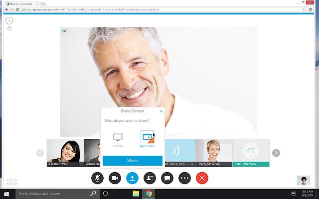 Condivisione contenuto Cisco Webex