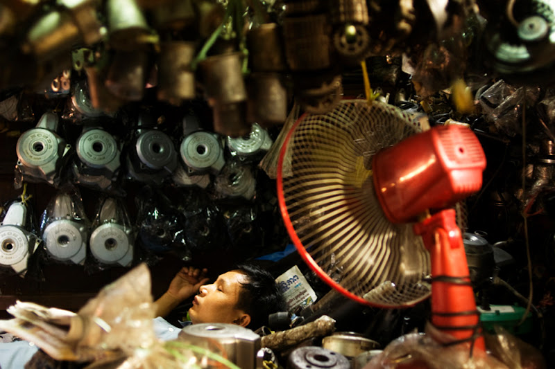 Photo: 2 A tool seller in a market, Phnom Penh, Cambodia (c) Romain Philippon