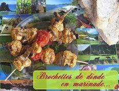 Brochettes de dinde en marinade