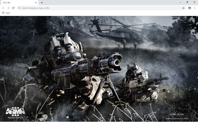 Arma 3 New Tab & Wallpapers Collection