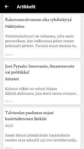Turun Sanomat näköislehti screenshot 3