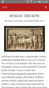 Ancient History Encyclopedia- screenshot thumbnail