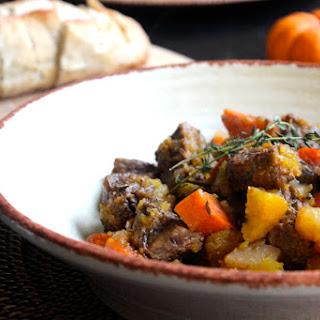 Pumpkin & Beef Slow Cooker Stew.