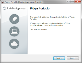 Photo: The new PortableApps.com Installer uses a simple and subtle graphical style and color pallette.