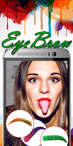 Eyebrow Shaping App - Beauty Makeup Photo  screenshots 1
