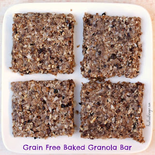 Grain Free Baked Granola Bar (GAPS, Paleo, Egg Free)